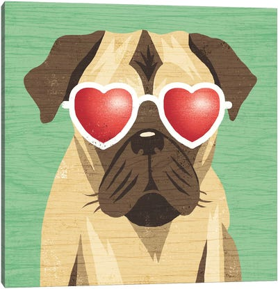 Pug I Canvas Art Print