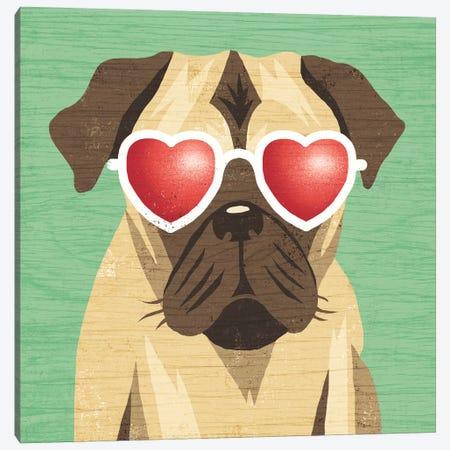 Pug I Canvas Print #WAC6153} by Michael Mullan Canvas Art