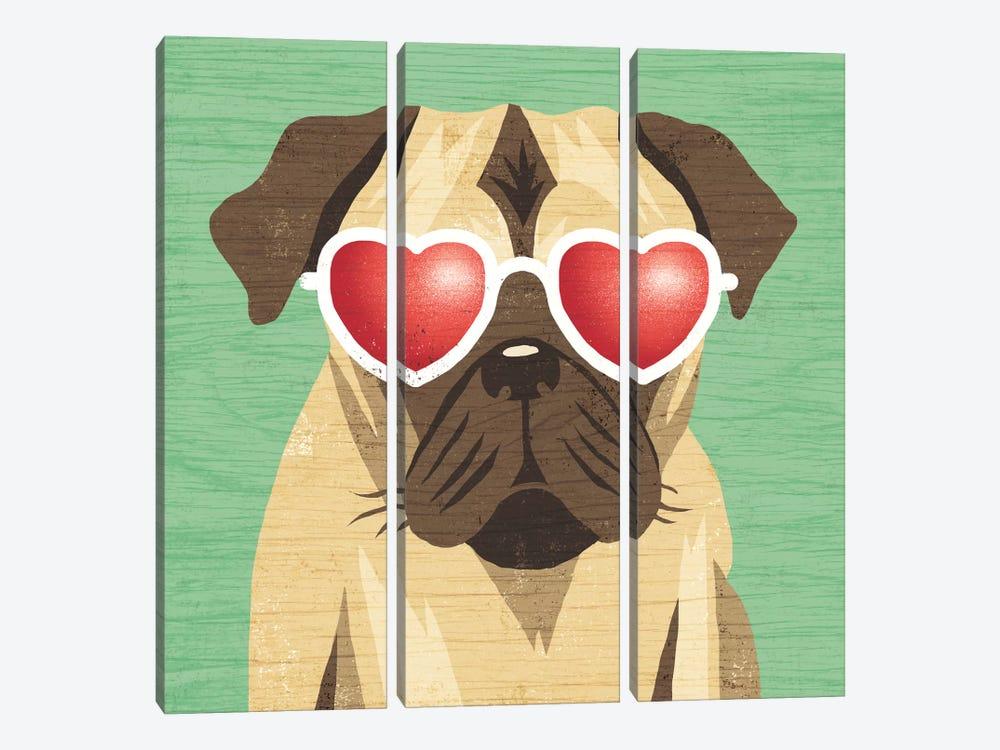 Pug I by Michael Mullan 3-piece Art Print