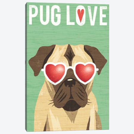 Pug II Canvas Print #WAC6154} by Michael Mullan Art Print