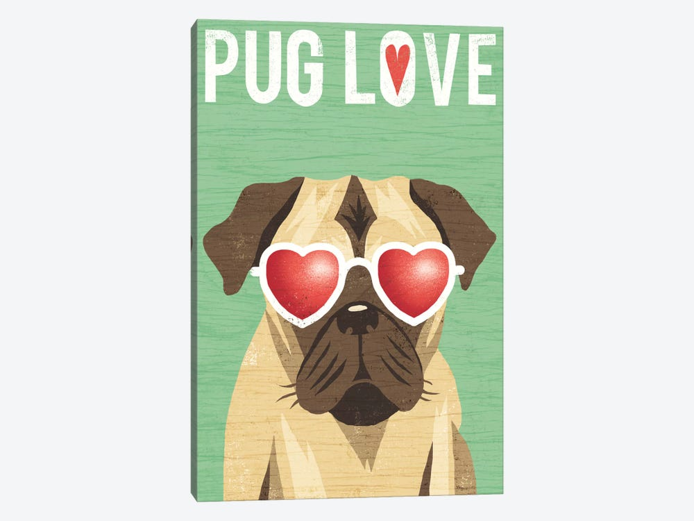 Pug II by Michael Mullan 1-piece Canvas Art