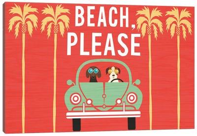 Beach Bums Series: VW Beetle I Canvas Print #WAC6159
