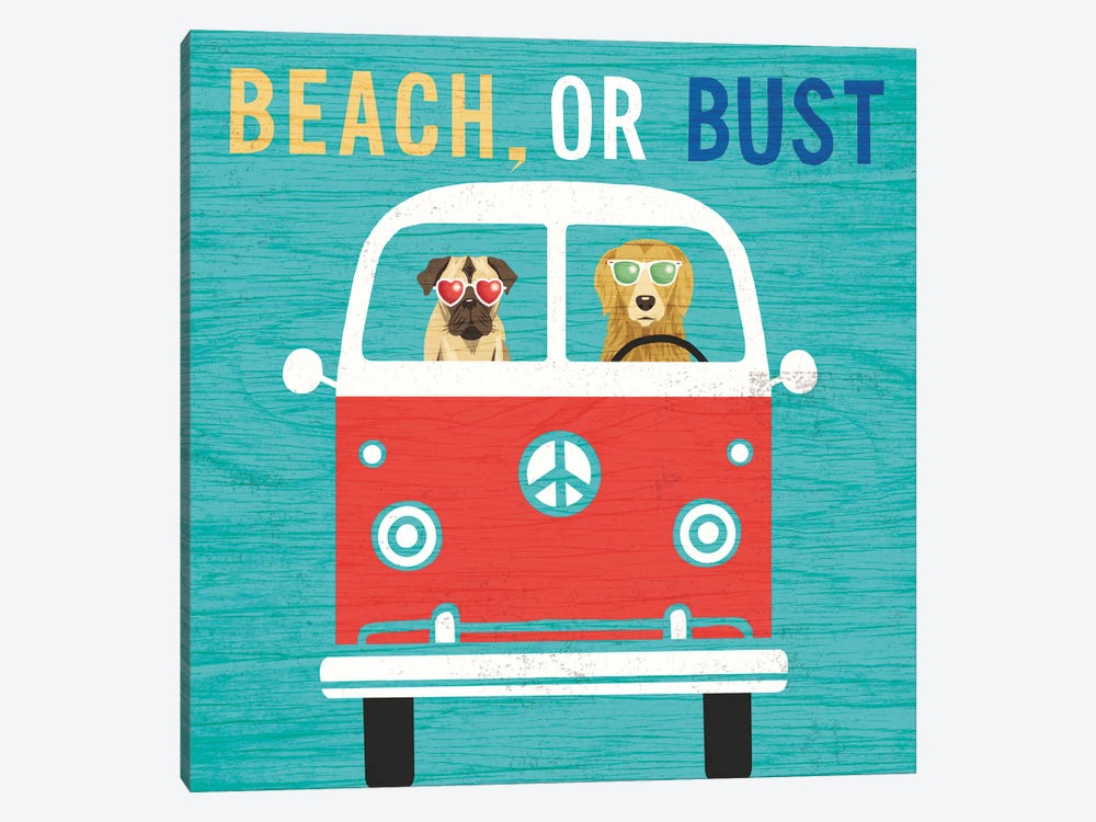 VW Bus by Michael Mullan 1-piece Canvas Art Print