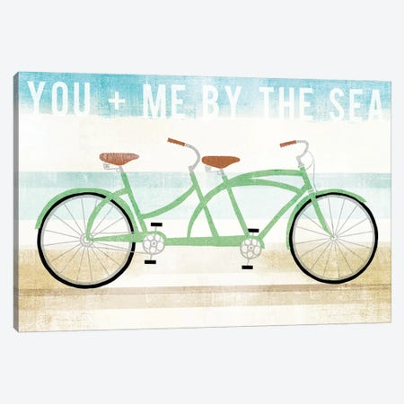 You And Me By The Sea Canvas Print #WAC6180} by Michael Mullan Art Print