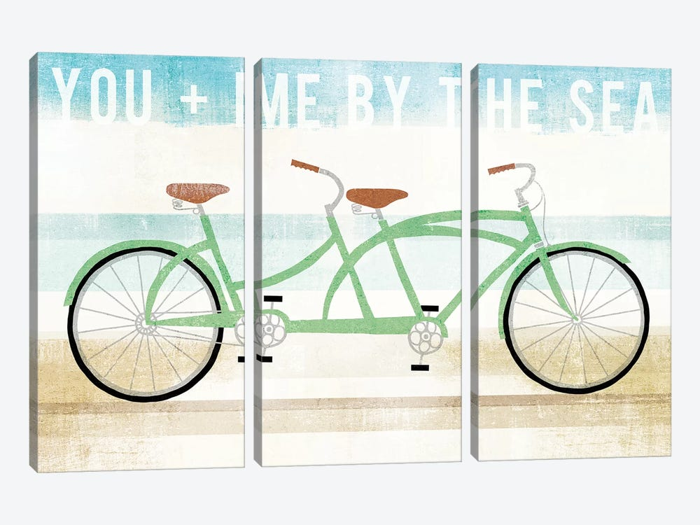 You And Me By The Sea by Michael Mullan 3-piece Canvas Art Print