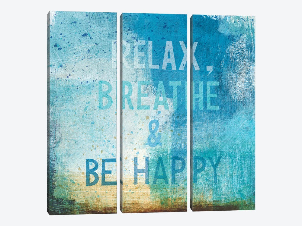 Beachscape Abstract I by Michael Mullan 3-piece Canvas Art