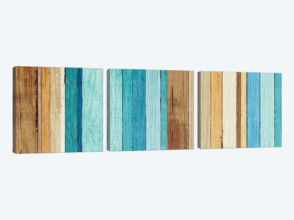Beachscape VII by Michael Mullan 3-piece Canvas Wall Art