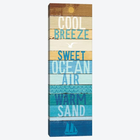 Beachscape Inspiration II Canvas Print #WAC6196} by Michael Mullan Art Print