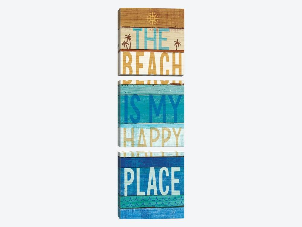 Beachscape Inspiration IV by Michael Mullan 3-piece Canvas Wall Art