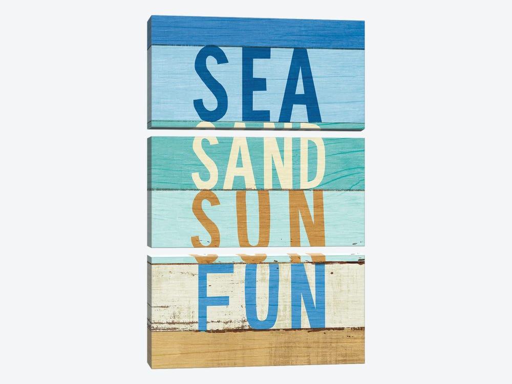 Beachscape Inspiration VIII by Michael Mullan 3-piece Canvas Print