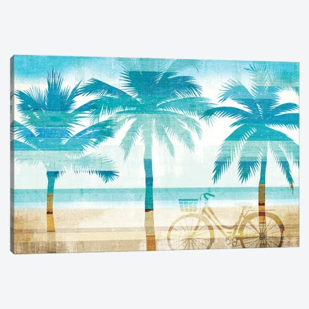 Beachscape Palms I Canvas Print #WAC6203} by Michael Mullan Canvas Artwork
