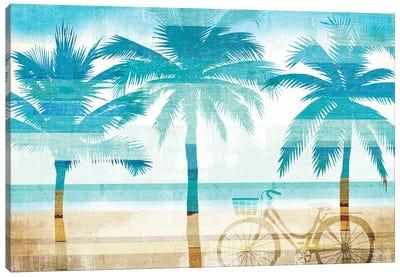 Beachscape Palms I Canvas Print #WAC6203