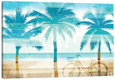 Beachscape Palms I Canvas Art Print