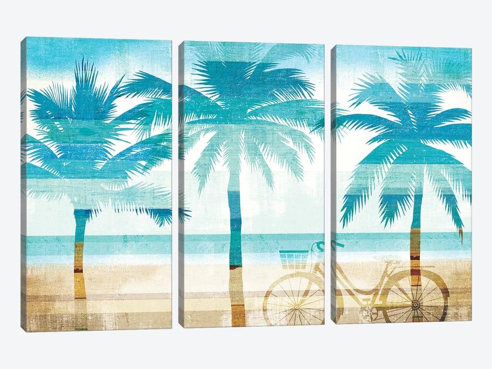 Beachscape Palms I by Michael Mullan 3-piece Canvas Art