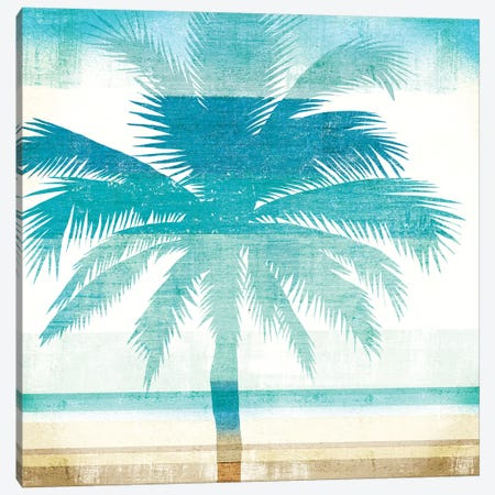 Beachscape Palms II Canvas Print #WAC6204} by Michael Mullan Canvas Art Print