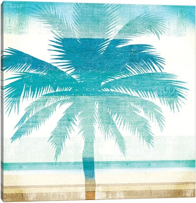 Beachscape Palms II Canvas Art Print