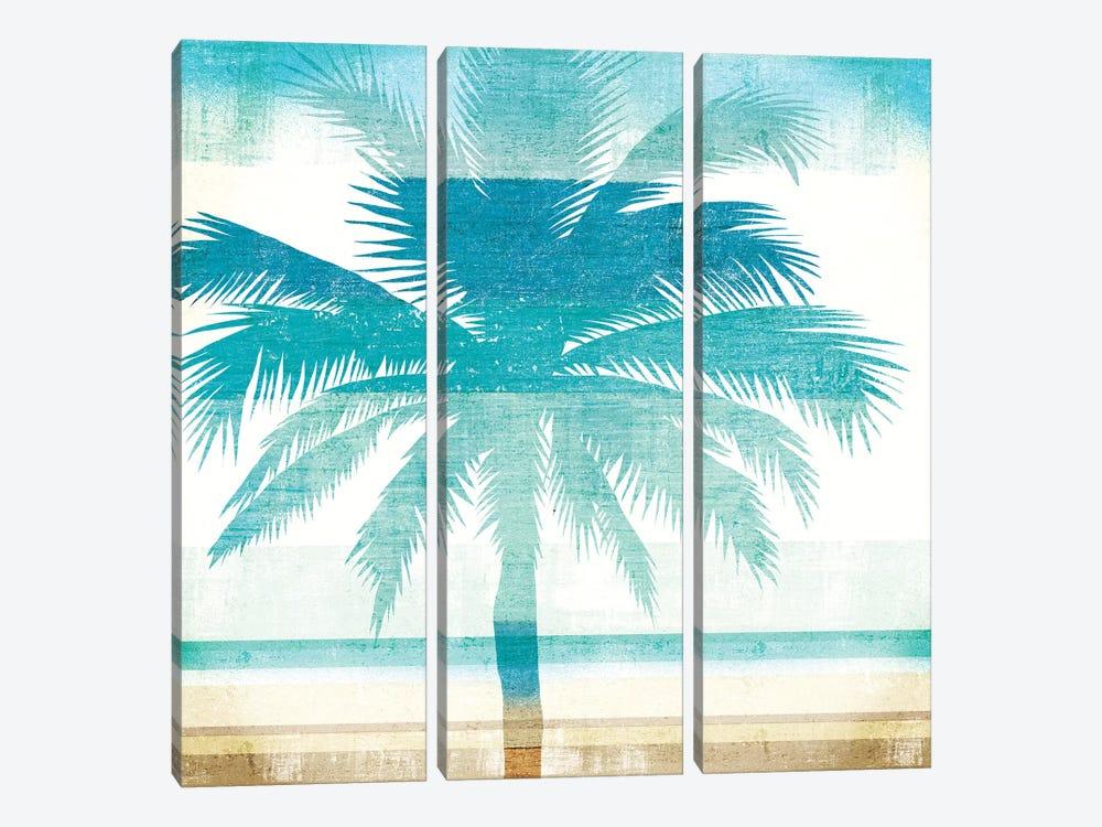 Beachscape Palms II by Michael Mullan 3-piece Canvas Print
