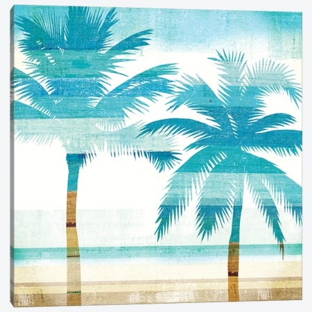 Beachscape Palms III Canvas Print #WAC6205} by Michael Mullan Art Print