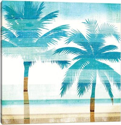 Beachscape Palms III Canvas Print #WAC6205
