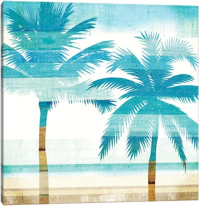 Beachscape Palms III Canvas Art Print