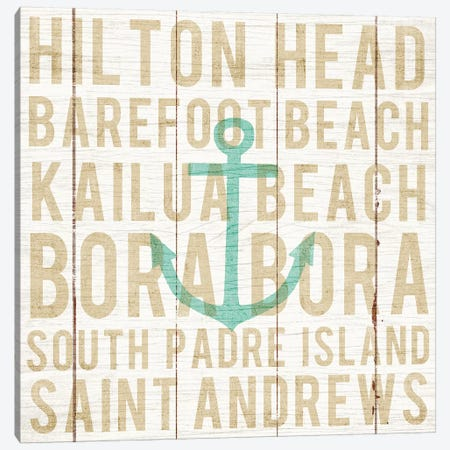 Anchor 3-Piece Canvas #WAC6234} by Michael Mullan Canvas Wall Art
