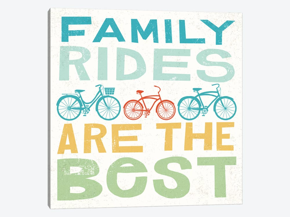 Family Rides Are The Best I by Michael Mullan 1-piece Art Print