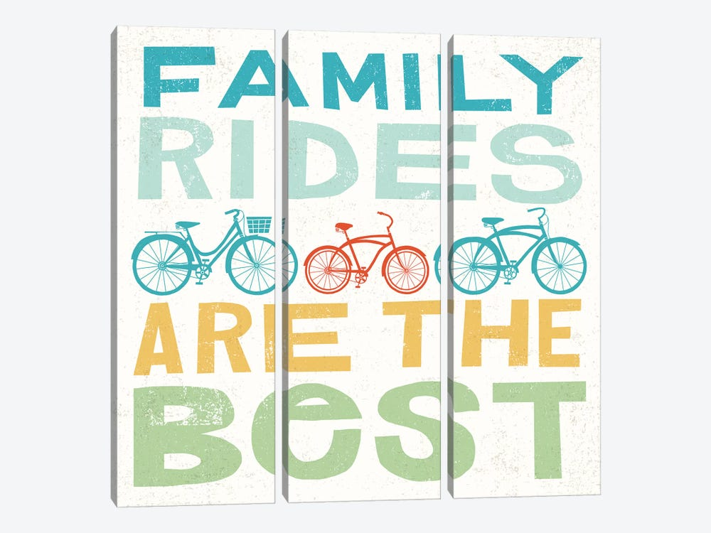 Family Rides Are The Best I by Michael Mullan 3-piece Art Print