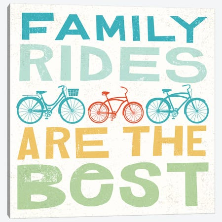 Family Rides Are The Best I Canvas Print #WAC6244} by Michael Mullan Canvas Art Print