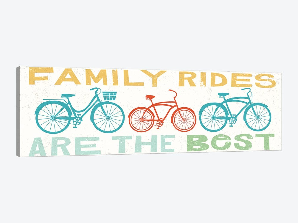 Family Rides Are The Best II 1-piece Canvas Wall Art
