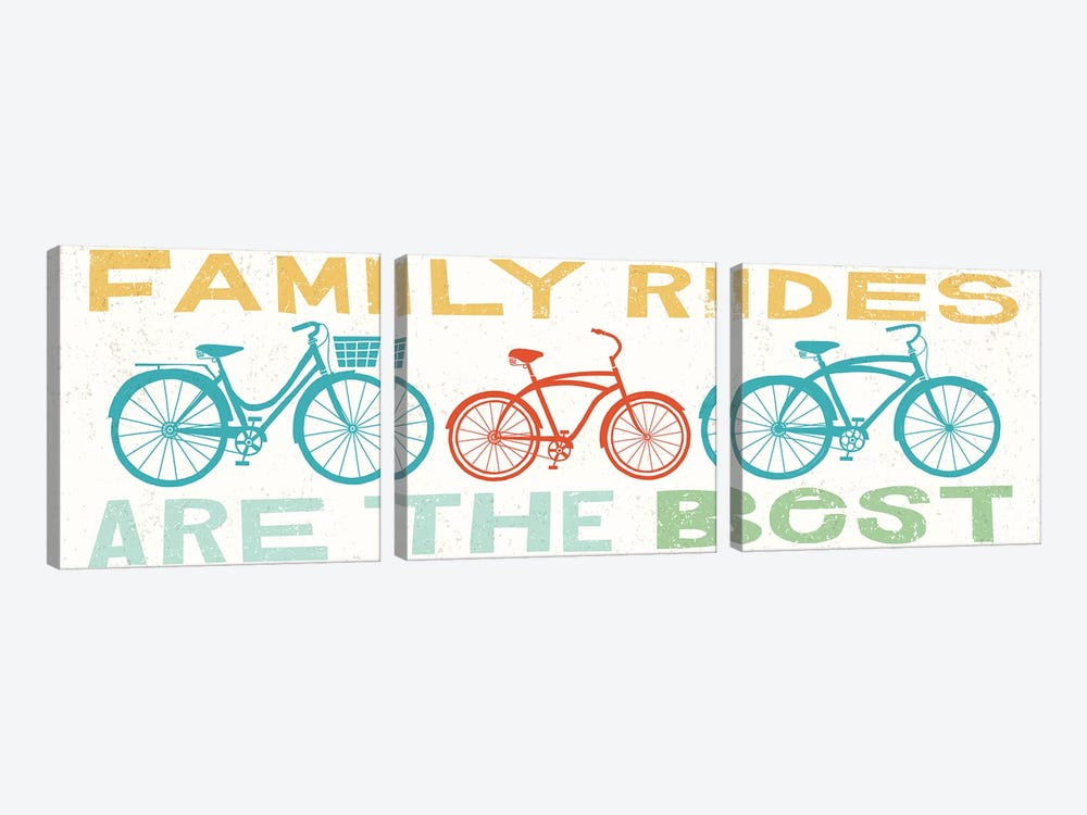 Family Rides Are The Best II by Michael Mullan 3-piece Canvas Artwork