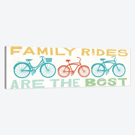 Family Rides Are The Best II Canvas Print #WAC6245} by Michael Mullan Canvas Art Print