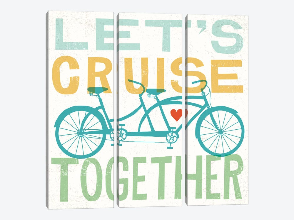 Let's Cruise Together I by Michael Mullan 3-piece Canvas Print