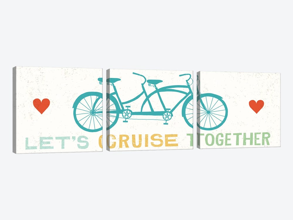 Let's Cruise Together II 3-piece Canvas Art