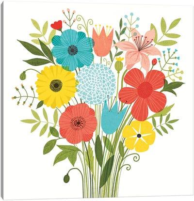 Seaside Bouquet I Canvas Print #WAC6248