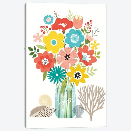 Seaside Bouquet VIII Canvas Print #WAC6255} by Michael Mullan Canvas Wall Art