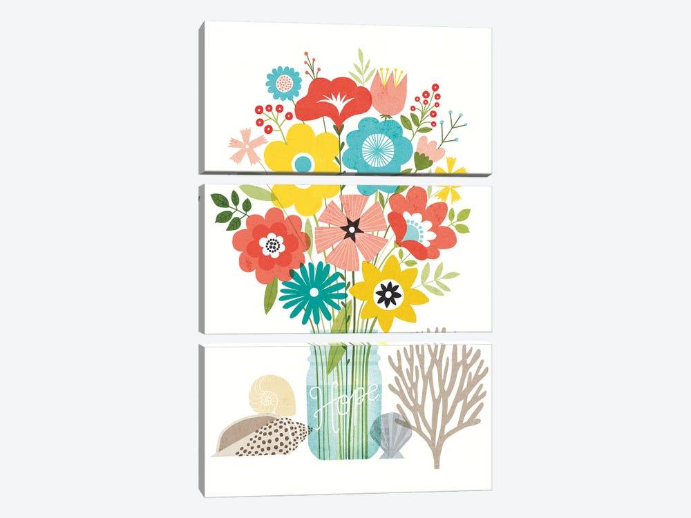 Seaside Bouquet VIII by Michael Mullan 3-piece Art Print