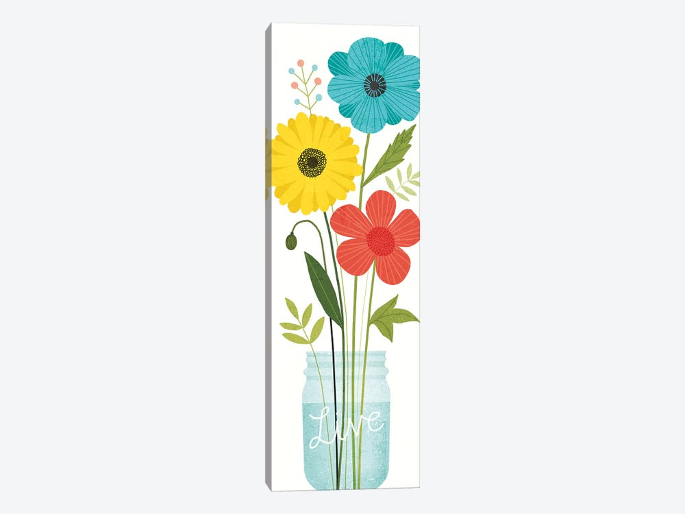 Seaside Bouquet IX 1-piece Canvas Artwork