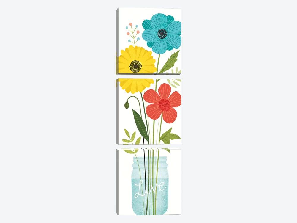 Seaside Bouquet IX by Michael Mullan 3-piece Canvas Wall Art