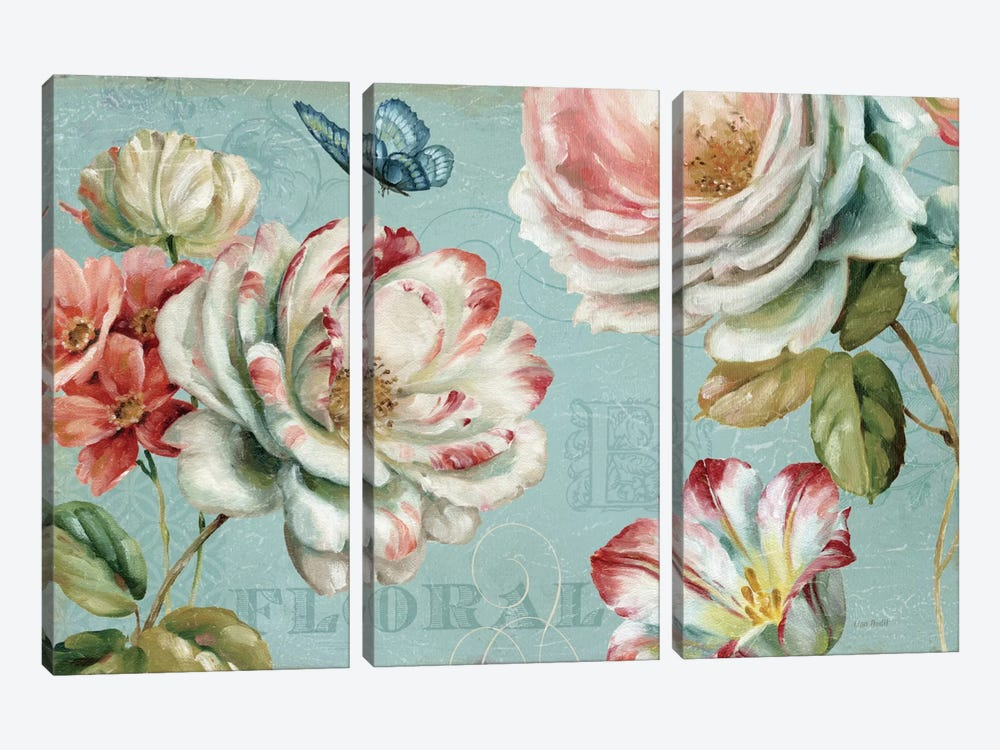 Spring Romance III by Lisa Audit 3-piece Canvas Artwork