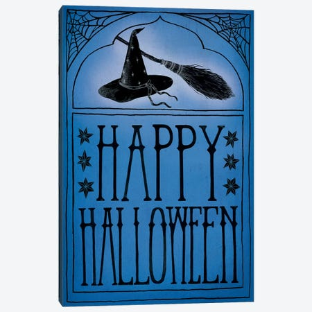 Happy Halloween Canvas Print #WAC6285} by Sara Zieve Miller Canvas Art Print