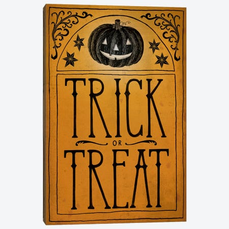 Trick Or Treat Canvas Print #WAC6287} by Sara Zieve Miller Canvas Print