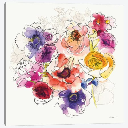Rainbow Ruffles II Canvas Print #WAC6289} by Shirley Novak Canvas Artwork