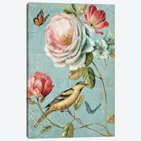 Spring Romance II Canvas Print #WAC628} by Lisa Audit Canvas Wall Art