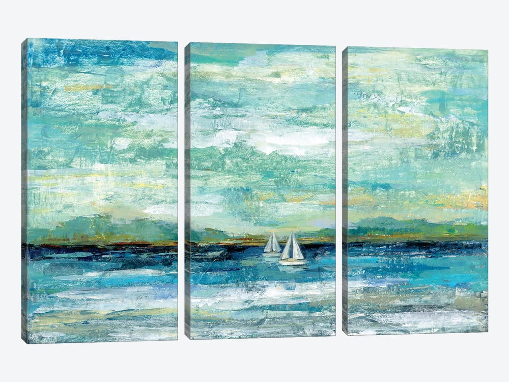 Calm Lake by Silvia Vassileva 3-piece Canvas Art Print