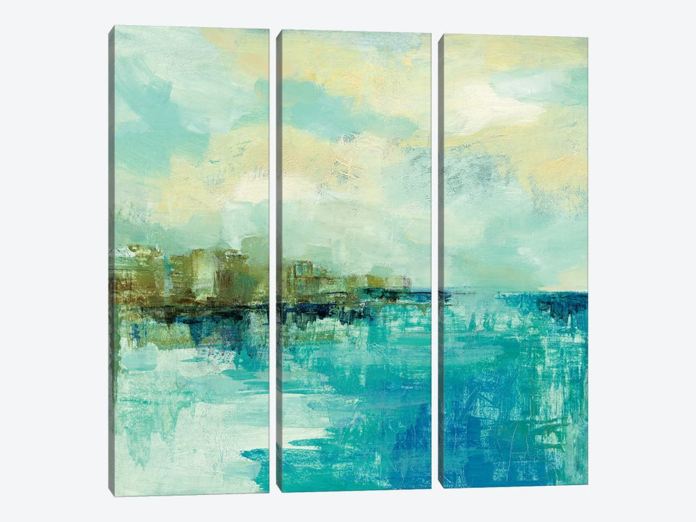 Cliff Side Town by Silvia Vassileva 3-piece Canvas Artwork