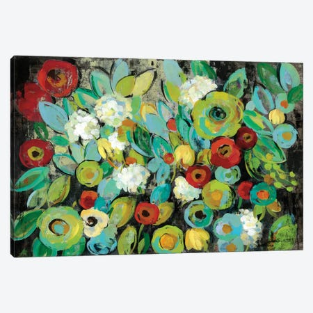 Fiesta Floral Canvas Print #WAC6297} by Silvia Vassileva Canvas Wall Art