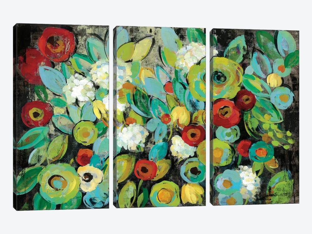 Fiesta Floral by Silvia Vassileva 3-piece Canvas Art Print