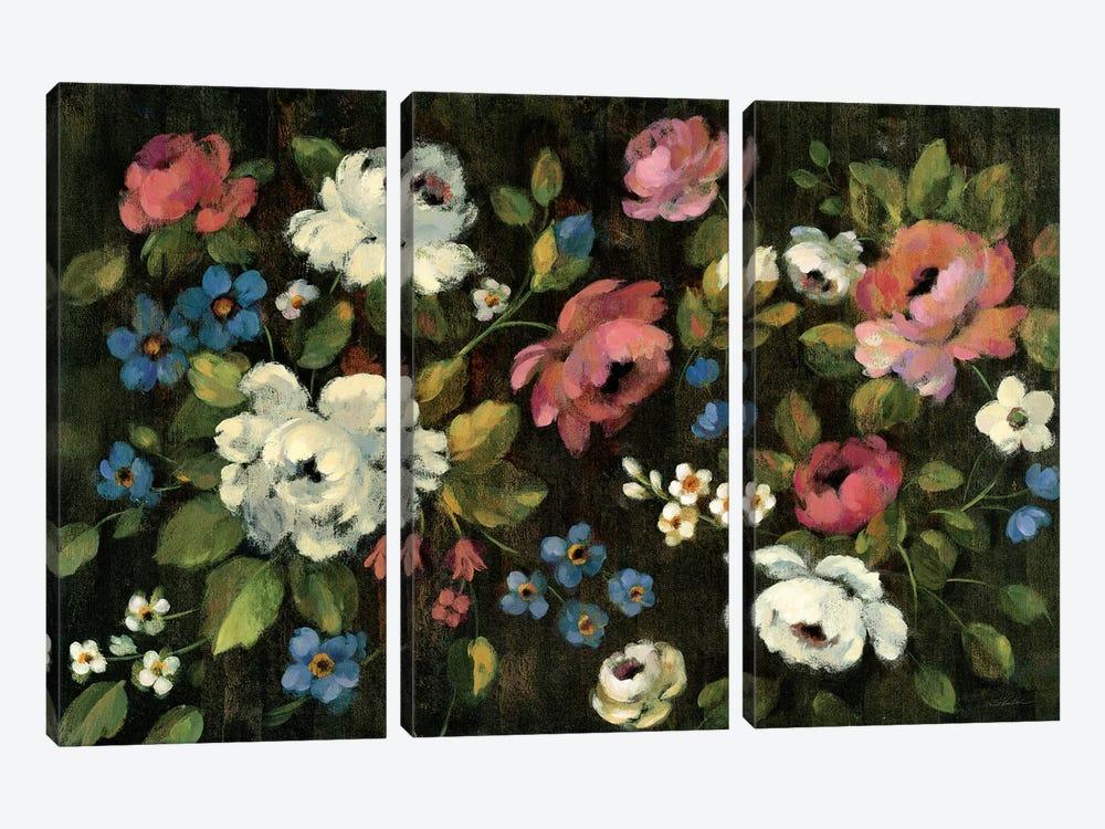 Expressive Spray On Black by Silvia Vassileva 3-piece Canvas Print