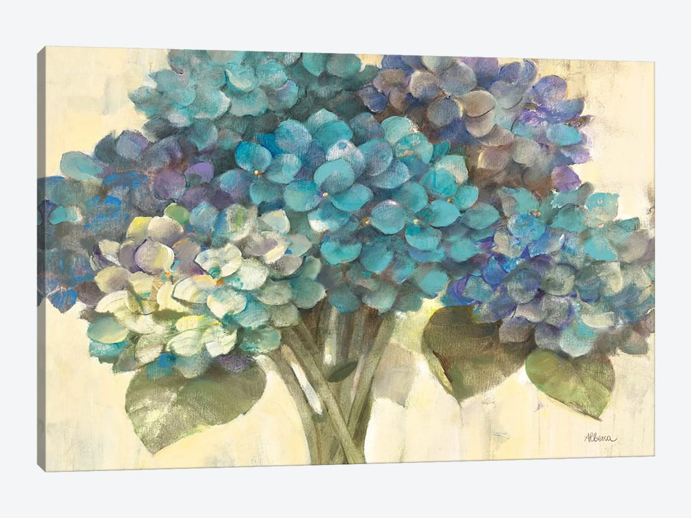Turquoise Hydrangea by Albena Hristova 1-piece Canvas Art