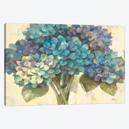 Turquoise Hydrangea 3-Piece Canvas #WAC62} by Albena Hristova Canvas Art Print